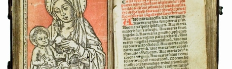 Woodcut of the Virgin and Child
