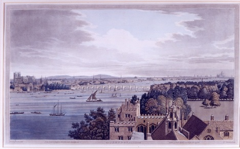 View of Morton's Tower, Lambeth Palace.