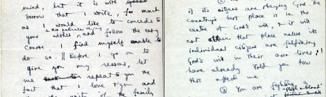 Stott'sletter of justification to his father