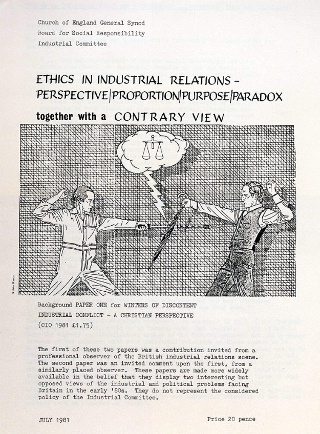 Ethics in Industrial Relations -published by the BSR in 1981