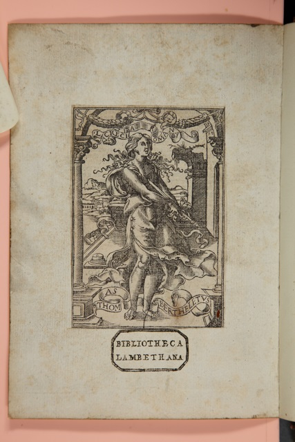 Pasted page with Library stamp