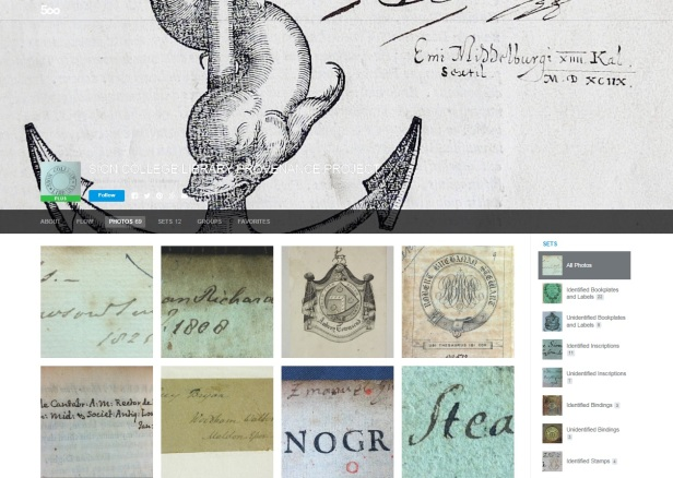 Home page of the Sion College Library Project