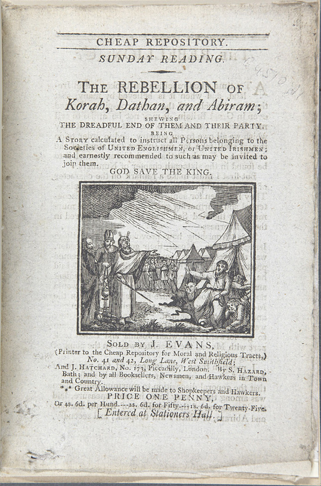 The tile page of The Rebellion of Korah, Dathan, and Abiram
