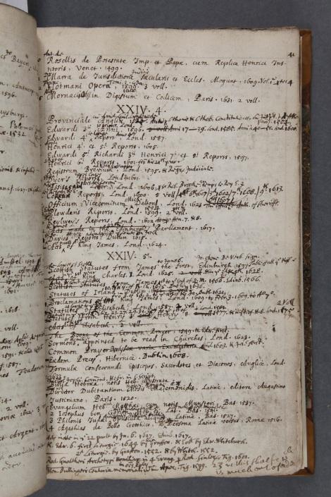 Shelf list by Paul Colomiès, 1684 (LR/F/10 f 26)