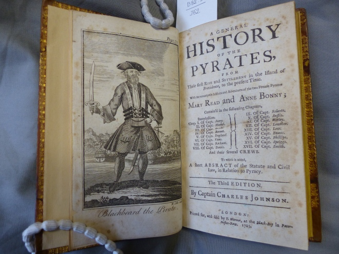 A general history of the pyrates, 1725 [B82.3/J62]