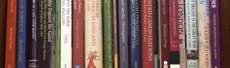 Lambeth Palace Library recent accessions bookshelf