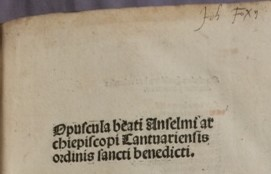 John Foxe's inscription on the title page of [ZZ]1500.7