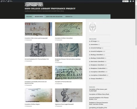 Sion Provenance Project homepage