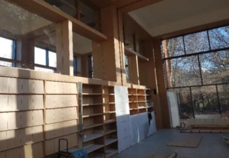 Reading Room shelves