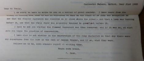 Letter between the parties