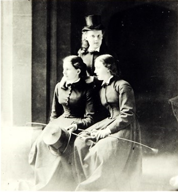 Archbishop Tait's three daughters who survived him, Agnes (standing), Lucy (left) and Edith (right)